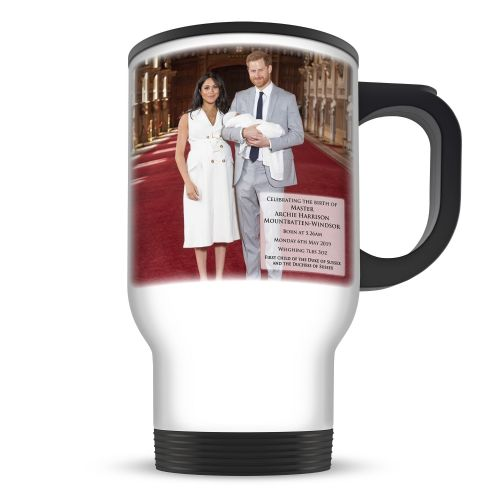 14oz Royal Baby Master Archie Harrison Mountbatten-Windsor Novelty Gift Aluminium Travel Mug
